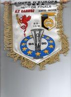Fanion Du Match Coupe UEFA AS CANNES / ADMIRA WACKER - Habillement, Souvenirs & Autres