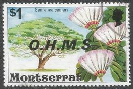 Montserrat. 1976 Official. $1 Used. SG O24 - Montserrat