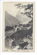 21502 - Dans Le Val D'Anniviers Chèvres Et Mazot - VS Valais