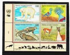 SRO149 UNO GENF 1997 MICHL 305/08 GEFÄHRTERTE ARTEN Postfrisch ** - Genf - Büro Der Vereinten Nationen