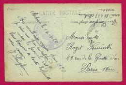 Correspondance Sur Carte Postale Datée De 1920 - Aviation Militaire - Tampon Escadron BR 553 - Luftpost