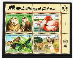 SRO150 UNO GENF 1998 MICHL 330/33 GEFÄHRTERTE ARTEN Postfrisch ** - Genf - Büro Der Vereinten Nationen