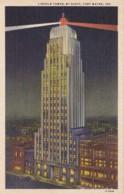 Indiana Fort Wayne Lincoln Tower By Night Curteich - Fort Wayne