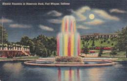 Indiana Fort Wayne Electric Fountain In Reservoir Park Curteich - Fort Wayne