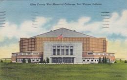 Indiana Fort Wayne Allen County War Memorial Coliseum 1956 Curteich - Fort Wayne