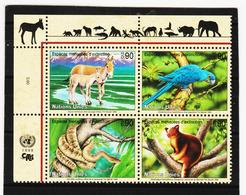 SRO151 UNO GENF 1999 MICHL 369/72 GEFÄHRTERTE ARTEN Postfrisch ** - Genf - Büro Der Vereinten Nationen