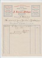 WALCOURT - IMPRIMERIE LIBRAIRIE LITHOGRAPHIE - A. LACROIX - PHILIPPE - 1902 - Imprenta & Papelería