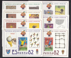 Soccer World Cup 1982 - SAO TOME - 7 S/S De Luxe Karton MNH** - Fußball-Weltmeisterschaft