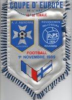 Fanion Du Match AUXERRE / ROVANIEMI 1989 - Habillement, Souvenirs & Autres