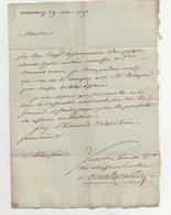 Lettre Annonay Pour Tournon Ardèche 1791 - Manuscrits