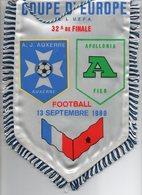 Fanion Du Match AUXERRE / APOLLONIA FIER 1989 - Habillement, Souvenirs & Autres