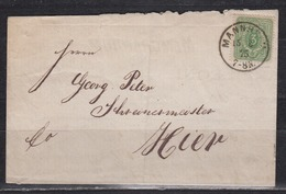 Dt.Reich Ausgabe Pfennige MiNo. 31 EF Auf Stadtbrief Mannheim 15.6.75 (800.-) - Germania