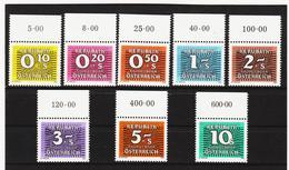 SRO144 ÖSTERREICH 1985/89  PORTO  Michl  260/67 Postfrische RANDSTÜCKE  ** - Portomarken