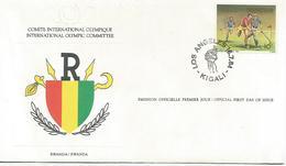 Enveloppe Olympique 1984  Rwanda - Rwanda
