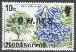 Montserrat. 1976 Official. 10c Used. SG O18 - Montserrat