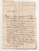 Lettre Pour Arlebosc  Ardèche 1792 - Manuscrits