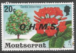 Montserrat. 1976 Official. 20c Used. SG O20 - Montserrat
