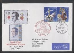 JAPAN Postal History Cover Brief JP 025 Air Mail Circus Personalities - 1989-... Emperor Akihito (Heisei Era)