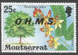 Montserrat. 1976 Official. 25c Used. SG O21 - Montserrat