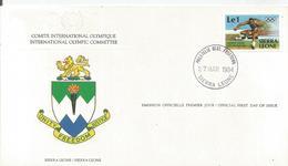 Enveloppe Olympique 1984  Sierra Leone - Sierra Leone (1961-...)