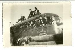 "2585 "" TORPEDONE IN PARTENZA-AUTOSERV. PUBBL. CASTELLANO & DAVIT-TORRE PELLICE "" FOTO ORIGINALE - Foto"