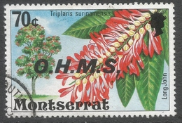 Montserrat. 1976 Official. 70c Used. SG O23 - Montserrat