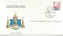 Enveloppe Olympique 1984  San Marino - Saint-Marin