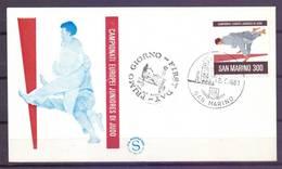 San Marino 1981 Mi 1240 FDC ( FDC ZE2 SMR1240 ) - Judo