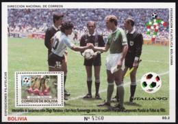 Bolivien, 1990, 1097 Block 186, Fußball-Weltmeisterschaft 1990, Italien. MNH ** - Bolivia