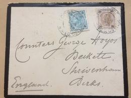 AUSTRIA 1902 Mourning Cover Loosdorf To Shrivenham Berkshire England Addressed To Countess George Hoyos - 1850-1918 Empire