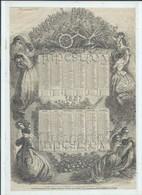 Journal Pour Tous : Calendrier De 1857 Illustration De Trichon Extrait Du Jounal Certainement Mis Sous Verre DOC RARE. - Other