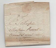 Lettre Arlebosc Pour Tournon 1809 Ardèche - Manuscrits
