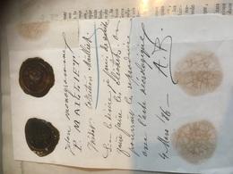 Jeton Monogramme P.Mailliet Collection Mailliet Pour Reproduction Avec Acte Nécrologique Mars 1886 - Faire-part