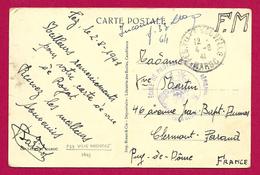 Correspondance Sur Carte Postale Datée De 1941 - Tampon École De Pilotage Et Base Aérienne - Poste Aérienne