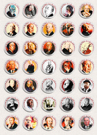 Alfred Hitchcock Movie Film Director Fan ART BADGE BUTTON PIN SET 3 (1inch/25mm Diameter) 35 DIFF - Films
