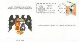 Enveloppe Olympique 1984  Espagne - 1931-Aujourd'hui: II. République - ....Juan Carlos I