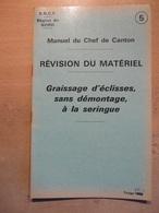 Manuel Chef Canton SNCF Région Nord Révision Matériel Graissage Eclisses à La Seringue 1971 - Trains