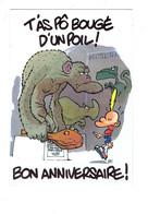 Cpm Humour Illustration Anniversaire - TITEUF - Singe Dinosaure Rhinocéros - Bandes Dessinées