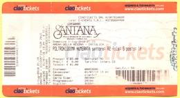 CONCERTO - SANTANA - Divination Tour 2018 - Biglietto D'ingresso - Ticket - Poltronissima Numerata - Biglietti D'ingresso