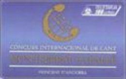 Telecarte ANDORRE M.Caballe - Andorre