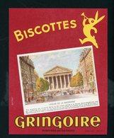 BUVARD:  BISCOTTES GRINGOIRE - PITHIVIERS EN GATINAIS - L'EGLISE DE LA MADELEINE - Biscottes