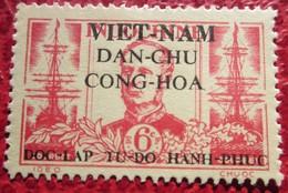 Timbre Indochine Surcharge Vietnam  Dan Chu Cong Hoa_rf   6 C - Vietnam