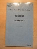 Manuel Chef Canton SNCF Chemin Fer Cheminot Train  Région Nord Conseil Généraux 1966 - Chemin De Fer & Tramway