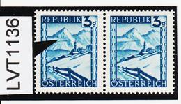 """LVT1136 ÖSTERREICH 1945 MICHL 738 PLATTENFEHLER """" GEMSE """" ** Postfrisch - Abarten & Kuriositäten"""