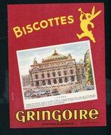 BUVARD:  BISCOTTES GRINGOIRE - PITHIVIERS EN GATINAIS - L'OPERA FORMAT  Env. 15X19 Cm - Biscottes