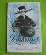 Catalogue Général Au Printemps Hiver 1918 1919 : Vêtements,hygiene,plumes,bijouterie,chapeaux,chaussures,porcelaines ... - Publicités