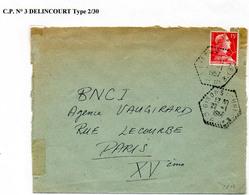 Poste Automobile Rurale De L'Eure Circuit De Gisors CP N°3 Delincourt Type 2/30 - Storia Postale