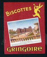 BUVARD:  BISCOTTES GRINGOIRE - PITHIVIERS EN GATINAIS - LE PALAIS DU LUXEMBOURG - Biscottes