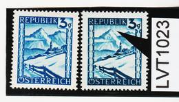 """LVT1123 ÖSTERREICH 1945 MICHL 738 PLATTENFEHLER """"REGEN"""" ** Postfrisch - Abarten & Kuriositäten"""