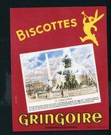 BUVARD:  BISCOTTES GRINGOIRE - PITHIVIERS EN GATINAIS - LA CONCORDE - Biscottes